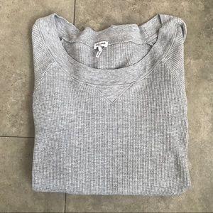 Splendid gray waffle knit long sleeve top!